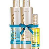 AVON Advance Techniques Marrokanisches Arganöl Haarpflege-Set 3-teilig
