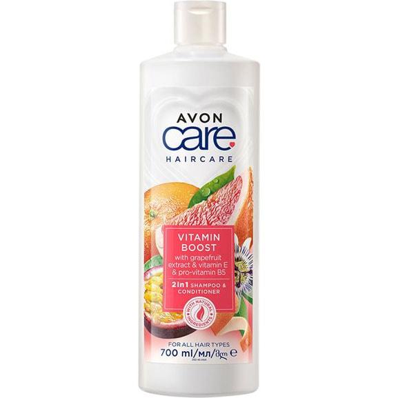 AVON naturals 2-in-1 Shampoo & Spülung mit Vitamin-Komplex 700 ml