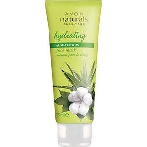 AVON naturals Aloe & Baumwolle Feuchtigkeitsmaske für das Gesicht