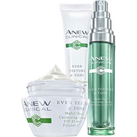 AVON ANEW Clinical Even Texture & Tone Hautpflege-Set 3-teilig