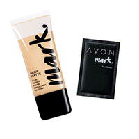 Probe Make-up AVON mark. Mattierende flüssige Nude-Foundation