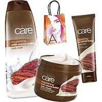 AVON care Kakaobutter Pflege-Set 3-teilig + Geschenktasche