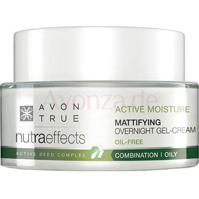 AVON nutra effects Mattierende Gelcreme für die Nacht