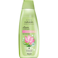 AVON naturals hair Basilikum & Lotusblüte 2-in-1 Shampoo & Spülung 700 ml