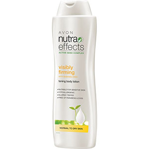 AVON nutra effects visibly firming Festigende Körperlotion mit Babassu-Samen 400 ml
