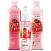 AVON naturals Cranberry & Zimt Körperpflege-Set 3-teilig