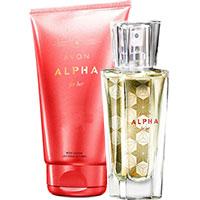 AVON Alpha Eau de Parfum + Körperlotion Set