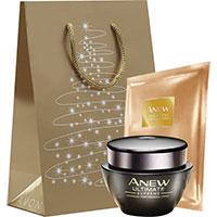 AVON ANEW Ultimate Feuchtigkeitspflege + Tuchmaske + Geschenktasche-Set