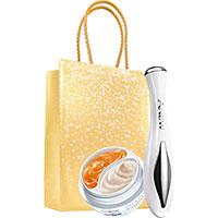 AVON ANEW 2-Phasen-Augenpflege + Augen-Entspannungshilfe Set + Geschenktasche
