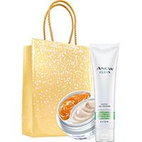 AVON ANEW 2-Phasen-Augenpflege + Clean Reinigungsgel Set + Geschenktasche