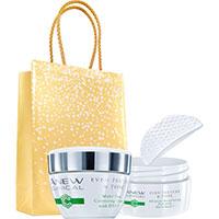AVON ANEW Clinical Hautverfeinernde Peeling-Pads + Creme für ebenmäßigen Hautton Set + Geschenktasche