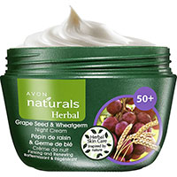 AVON naturals Herbal Traubenkern & Weizenkeim Nachtcreme
