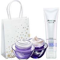 AVON ANEW Platinum Reigungs-Creme-Set 3-teilig + Geschenktasche