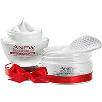 AVON ANEW Reversalist Tagescreme + Peelings-Pads Set + Geschenktasche